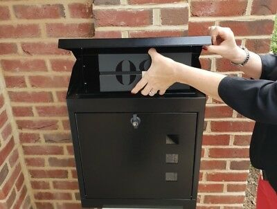 LARGE Anti-THEFT  PARCEL/MAIL BOX  LOCKABLE, WEATHERPROOF, LETTERBOX /PARCEL BOX