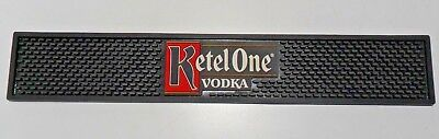"Rubber Bar Service Spill Mat Black w/ Ketel One Vodka Logo 21"" L x 3 ½"" D"