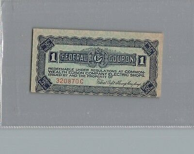 Commonwealth Edison Stores 1940's 1,coupon un Cancled
