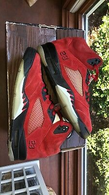 on sale 6265b 22a3c Air Jordan Retro 5 V Raging Bull Pack Toro Bravo Red ONLY Size 9.5 136027-