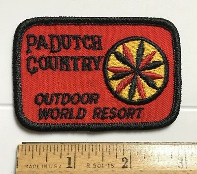 Pennsylvania Dutch Country Outdoor World Resort PA Souvenir Embroidered Patch