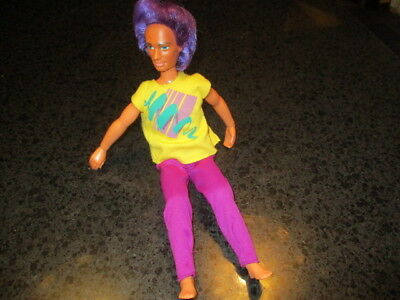 Rare Vintage Jem and the Holograms Doll Rio with Outfit 1985 Hasbro