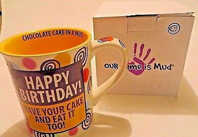 Our Name Is Mud Gift Boxed Happy Birthday Cake Coffee Mug Item