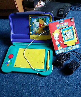 Vintage Sega Pico Console With Winnie The Pooh & Mickey Mouse