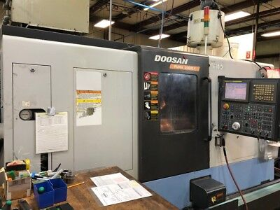 Used 2007 Doosan Puma 2000-SY CNC Live Tool Y Axis Turning Center Lathe Daewoo