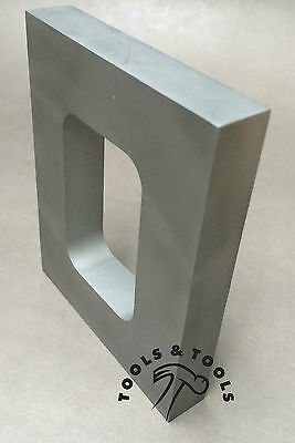 "ALUMINUM MOLD FRAME SINGLE CAVITY VULCANIZER RUBBER SIZE 4-1/8"" x 3-1/2"" CASTING"