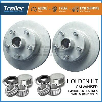 Trailer Parts Holden Ht Trailer Disc Hubs Pair Galvanised (Lm)  With Marine Seal