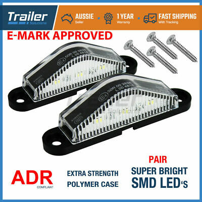 2x LED LICENSE NUMBER PLATE LIGHT TRUCK CARAVAN TRAILER BOAT 10-30V VAN UTE