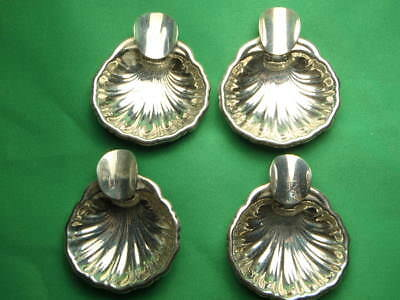 Eagle 20 Sterling Silver Mid Century Shell Design 4 Piece Ashtray Set 57.9 Gram