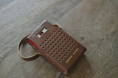 Vintage Transistor Radio CHANNEL MASTER CORP & LEATHER CARRY CASE Needs Help