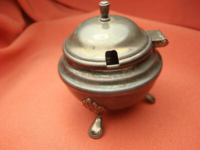 Estate Sterling Silver Fancy Leg Mustard Pot 38.0 Grams C223