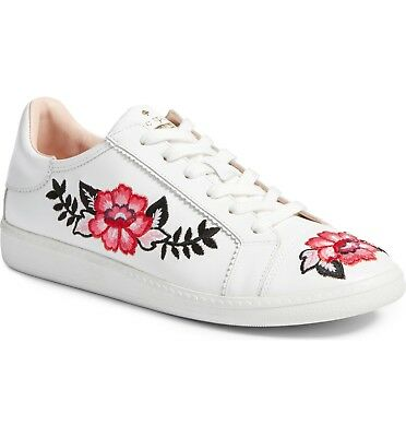 8edabde73fe6 kate spade new york Women s Everhart Lace-Up Sneakers Size 7.5 White Leather