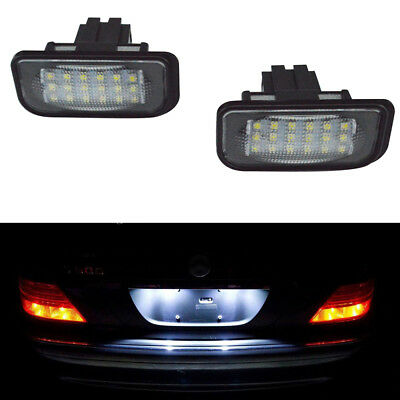 2X Error Free LED License Plate Lights Lamp For Mercedes-Benz 5DR W203 W211 W219