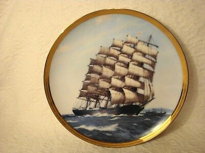 "Vtg Franklin Mint "" The Great Ships Of The Golden Age Os Sail"" Preussen By Derek"
