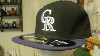 huge selection of 31185 634e0 New Era Colorado Rockies ALT 59Fifty Fitted Hat (Black Purple) MLB Cap FREE