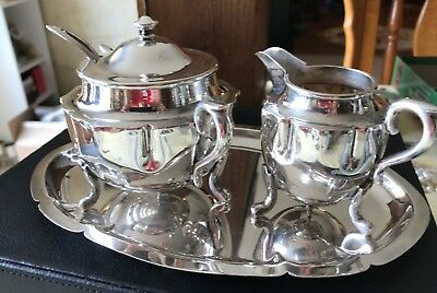 Vintage Silver Plated Tea Service With Box