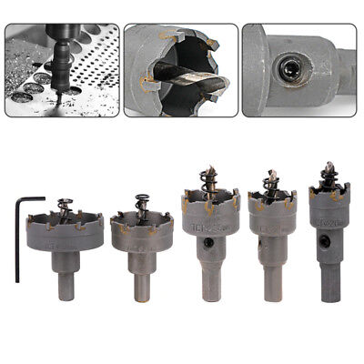5PCS 20-50mm Hole Saw Tooth HSS Steel Drill Bit Cutter Tool For Metal Wood Alloy