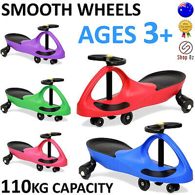 New KIDS SWING PLASMA WIGGLE CAR Swivel Slider Ride On Toy Stable Scooter