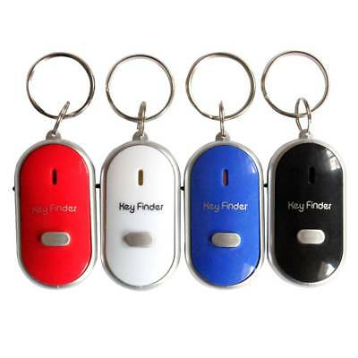5PCS Mini Whistle Sensors Key Chain Rings Finder LED Torch Smart Finding Device