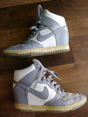 574d221a51a4 Nike Dunk Sky High Canyon Gray Wedge Sneakers Shoes 528899-100 Women s Size  8.5