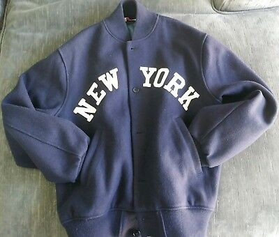 Vintage Empire Sporting Goods MFG. Co. NYC New York Yankees Wool Jacket Size XL