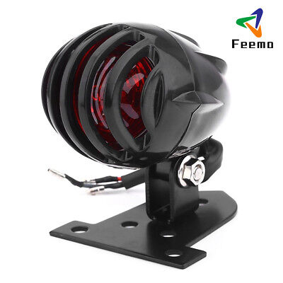 Motorcycle Tail Light Stop Lamp Aluminum Pedestal Brass Grille