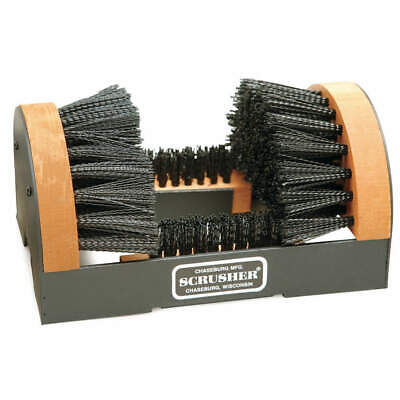 GRAINGER APPROVED Boot Brush with Scraper,Black, H1