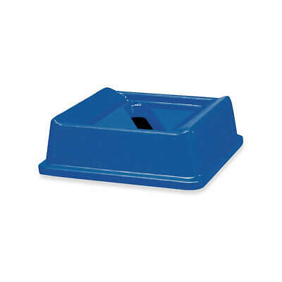 RUBBERMAID COMMERCIAL Paper Slot Recycling Top,Plastic,Blue, FG279400DBLUE, Blue