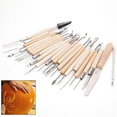 22x Pottery Clay Sculpture Sculpting Carving Modelling Ceramic Hobby Tools Fast