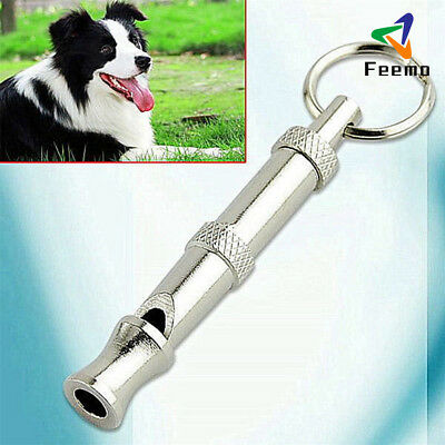 New Pet Dog Training Adjustable Whistle Sound with Keychain for Dog Pet DE