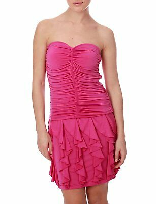 bf1a666aa07 MORGAN - ROBE Bustier Volants - Femme Rose Manga - Taille L NEUF ...