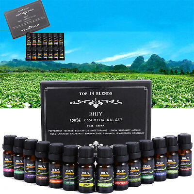 Essential Oils Set Of 14PCS 100% Pure Aromatherapy kit 10mL Bottles Gift Box TY