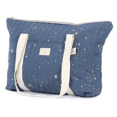 NEW Nobodinoz Paris Maternity Bag Gold Stella/Night Blue