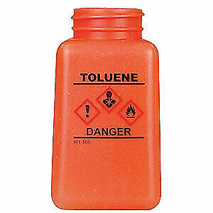 MENDA Graduated Toluene ESD Bottle,6 oz,Wide, 35763