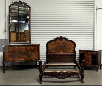 Antique French Inlaid Bedroom Set