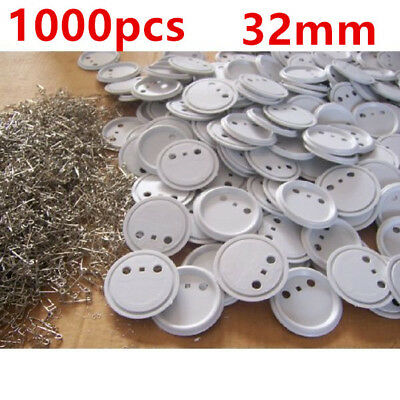 Blank Pin Badge ABS Button Supplies for Badge Button Making Machine 1000pcs 32mm