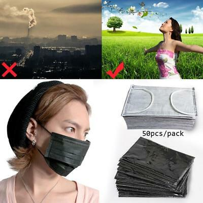 50 x Disposable Mouth Face 4-layer Mask Respirator Health Anti-Dust Waterproof