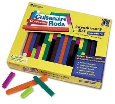Wooden Cuisenaire Maths Rods from Learning Resources | Introductory Set of 74