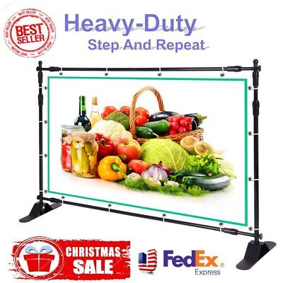 Brand New Retractable Roll Up Banner Stand Trade Show Sign Display Adjustable EQ