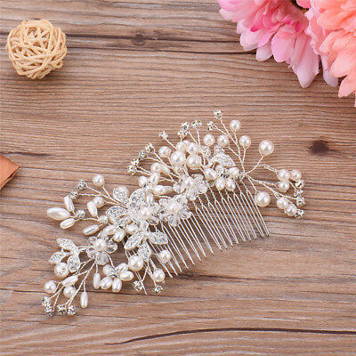 Wedding Bridal Crystal Head Rhinestone Crystal Hair Piece Head Comb Jewelry AU!