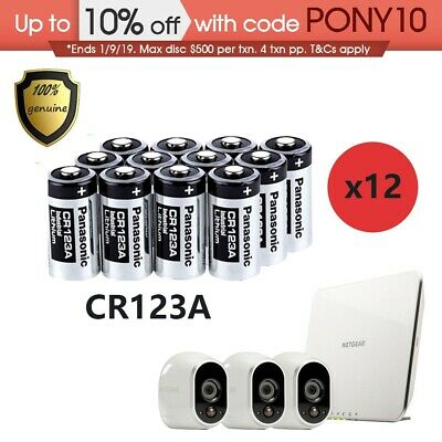 12X Panasonic CR123A Battery Netgear Arlo Security Camera VMS3330 3430 3310 3230