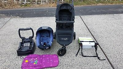 Baby Jogger City Mini GT + Safe N Sound Unity Capulse + Pram adapter + Extras!