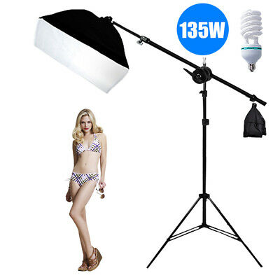 Photography Studio Softbox Soft Box Boom Arm Continuous Lighting Light Stand Kit