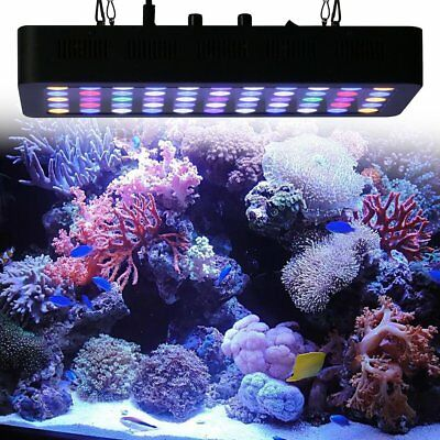 165W 55 LEDs Aquarium Light Dimmable Full Spectrum for Reef Fish Coral Tank MA