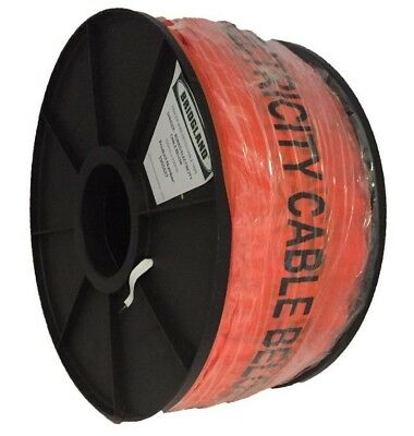 Bridgland DETECTABLE UNDERGROUND TAPE 100mmx250m Buried Electricity Cable Below