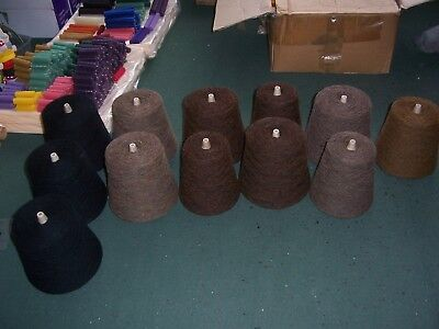 6.9 Kg of Scottish Wool Single Ply Weaving Yarn as used to produce Tweed Cloth