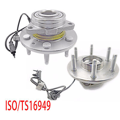 2Pcs Front Wheel Hub Bearing Assembly Left and Right for Chevy GMC 4WD W/ 6 Lug