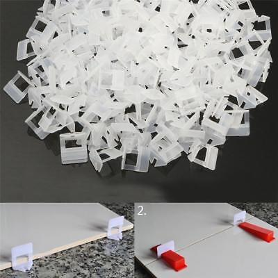 1.5/2mm Wedge Tile Leveling System Spacer Clips Wall Tiling Flooring Level 100pk