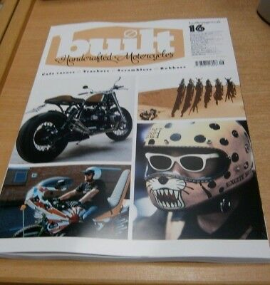 Built magazine Handcrafted Motorcycles #16 2018 Cafe Racers Trackers Scramblers