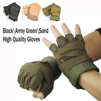 Men's Gent Half Finger Gloves Outdoor Military Tactical Hand protection Mittens